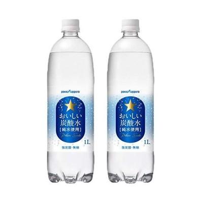 飲料水 おいしい炭酸水 ポッカサッポロ 1000ml 24本 (12本×2ケース)
