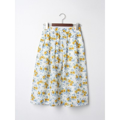 水彩花柄スカート