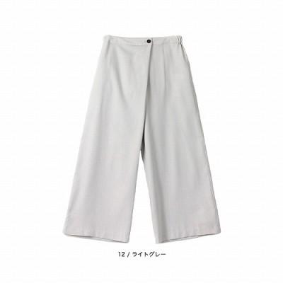 フロントラップ風パンツ【LL―5L】(フルールバイミントブリーズ/fleur by mint breeze)