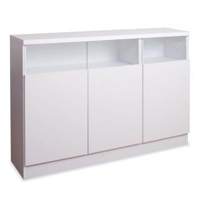 キャビネット リビング収納 サイドボード 薄型収納 扉 120幅 完成品
