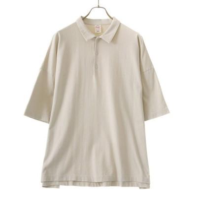 ポロシャツ GOLD / ゴールド:SUVIN COTTON OVER SIZE POLO TEE:21A-GL78659[MUS]