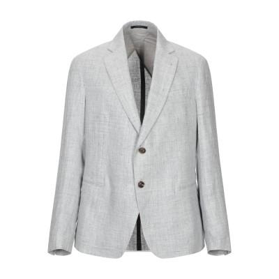 エンポリオ アルマーニ EMPORIO ARMANI テーラードジャケット ライトグレー 48 麻 100% テーラードジャケット
