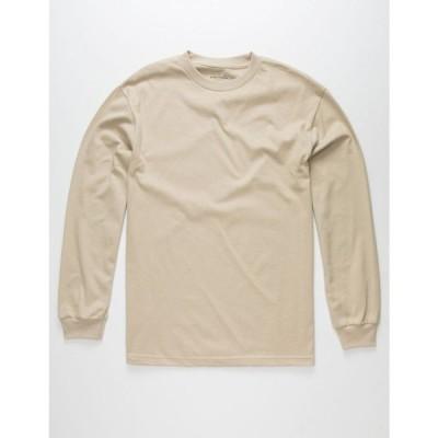 ブルークラウン BLUE CROWN メンズ Tシャツ トップス Classic Heavyweight Pink T-Shirt SAND