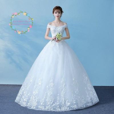 ウェディングドレス 袖あり 安い 花嫁 プリンセスラインドレス 結婚式 ブライダル ドレス 白 ロング ウエディングドレス 披露宴 二次会 パーティードレス