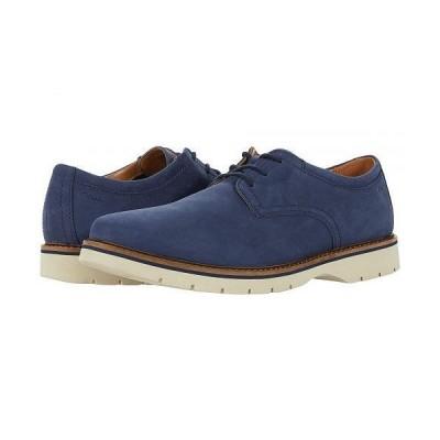 Clarks クラークス メンズ 男性用 シューズ 靴 オックスフォード 紳士靴 通勤靴 Bayhill Plain - Dark Blue Nubuck