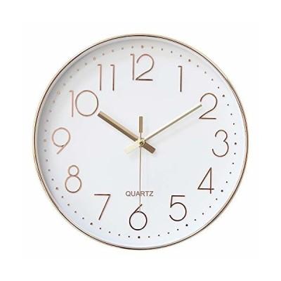 HOMEMOM 掛け時計 おしゃれ 連続秒針 静音 壁掛け時計 時計 壁掛け おしゃれ 部屋 北欧 インテリア 掛時計 見や
