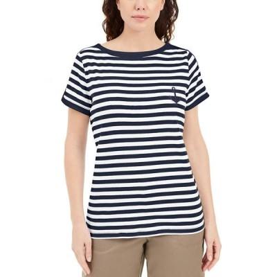 ケレンスコット カットソー トップス レディース Petite Cotton Anchor-Patch T-Shirt, Created for Macy's Intrepid Blue