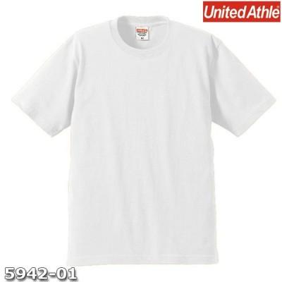 Tシャツ 半袖 メンズ プレミアム 6.2oz XS サイズ ホワイト 無地 ユナイテッドアスレ CAB
