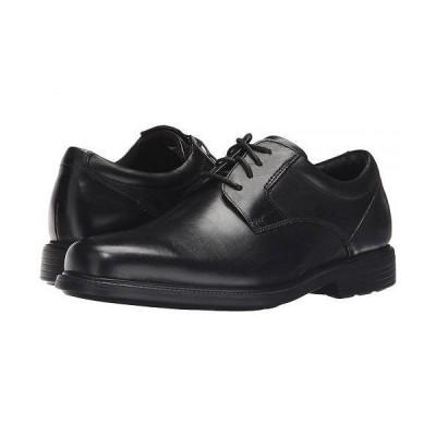 Rockport ロックポート メンズ 男性用 シューズ 靴 オックスフォード 紳士靴 通勤靴 Charles Road Plain Toe Oxford - Black Leather