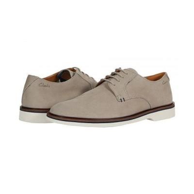 Clarks クラークス メンズ 男性用 シューズ 靴 オックスフォード 紳士靴 通勤靴 Malwood Plain - Stone Nubuck
