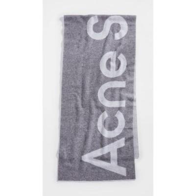 アクネ ストゥディオズ Acne Studios レディース マフラー・スカーフ・ストール Toronty Logo Scarf Grey