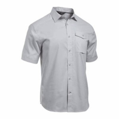アンダーアーマー 半袖シャツ Backwater SS Button Down Shirt Glacier Gray/White