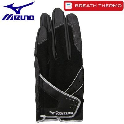 ミズノ ゴルフ手袋 左手用 ブレスサーモ 秋冬用 45GM01710 09 ブラック Sサイズ