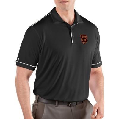アンティグア Antigua メンズ ポロシャツ トップス San Francisco Giants Salute Black Performance Polo