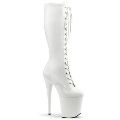取寄せ靴 送料無料 PLEASER プリーザー ブーツ 20.5cmヒール 大きいサイズあり