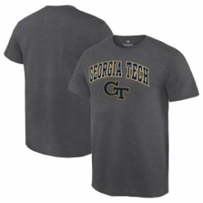 Fanatics Branded ファナティクス ブランド スポーツ用品  Fanatics Branded GA Tech Yellow Jackets Charcoal Campus T-Shirt