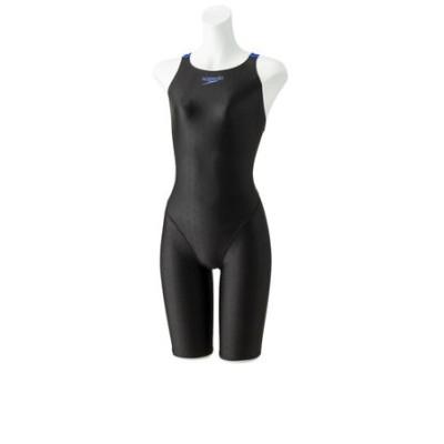 スピード(SPEEDO)水着 ガールズ 女児 フレックスシグマ2 セミオープンバックニースキン2 オールインワン SCG12050F KB
