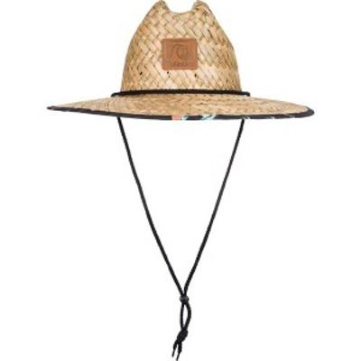 クイックシルバー メンズ 帽子 アクセサリー Quiksilver Men's Outsider Straw Lifeguard Hat Tarmac