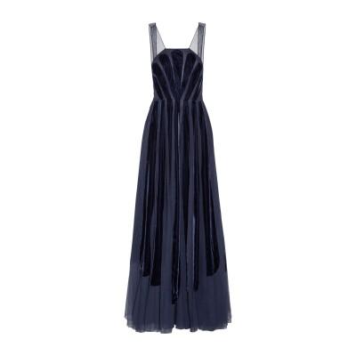 ヴァレンティノ VALENTINO ロングワンピース&ドレス ダークブルー 40 コットン 100% / レーヨン ロングワンピース&ドレス