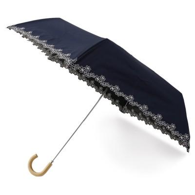 晴雨兼用 花柄プリント折り畳み傘