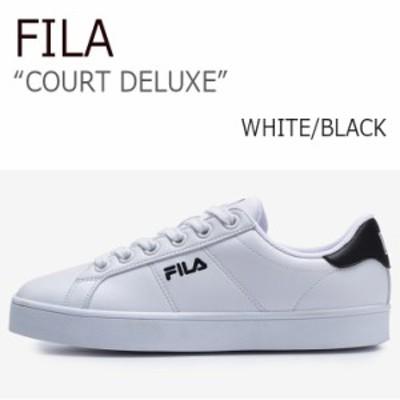FILA COURT DELUXE/White/Black【フィラ】【コートデラックス】【F1XKZ0179】 シューズ