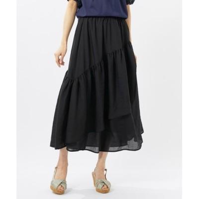【大きいサイズ】 フリルデザインロング丈スカート(アリスバーリー)(オトナスマイル) スカート, plus size skirts
