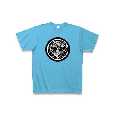 上杉 謙信(家紋) Tシャツ Pure Color Print(シーブルー)