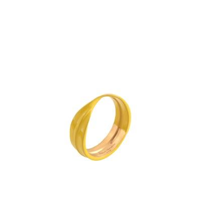 メゾン マルジェラ MAISON MARGIELA 指輪 イエロー XS 真鍮/ブラス 100% 指輪