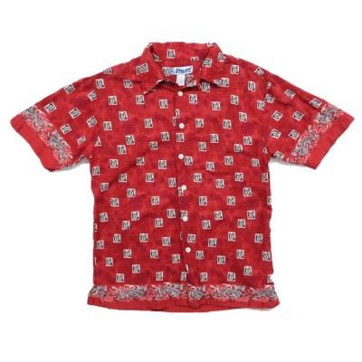 UTILITY 総柄 コットン デザイン 半袖シャツ サイズ表記:M