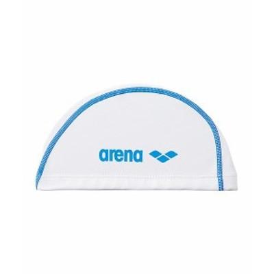 【メール便送料無料】アリーナ 水泳 スイムキャップ 水泳帽 メンズ レディース ジュニア 2ウェイシリコンキャップ ARN6408-WHT