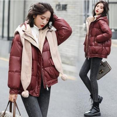 レディースダウンコートショート丈ダウン綿コートダウンジャケット軽い中綿コート大きいサイズ20代暖かい40代30代2020秋冬新作