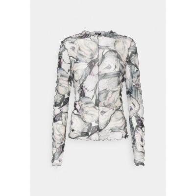 モンキ カットソー レディース トップス FAIRLY TOP - Long sleeved top - marble stone