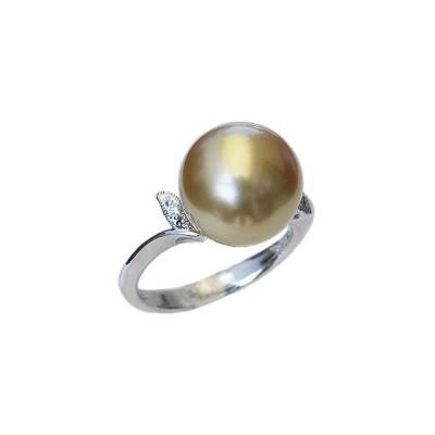 パール 指輪 真珠 リング 真珠 指輪 南洋白蝶真珠 ゴールド系 12mm ホワイトゴールド アクセサリー ジュエリー 記念日 フォーマル プレゼント ギフト 人気