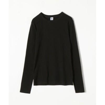 SHIPS for women/シップスウィメン 【SHIPS any別注】PETIT BATEAU:サコッシュ付き ロングスリーブ Tシャツ ブラック ONE SIZE