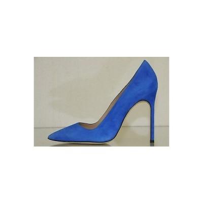 ハイヒール マノロブラニク Manolo Blahnik BB 115 Cobalt Blue Suede Shoes Heels Pumps 35 39 40.5 Wedding