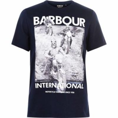 バブアー Barbour International メンズ Tシャツ トップス ISDT Champions T-Shirt Navy NY