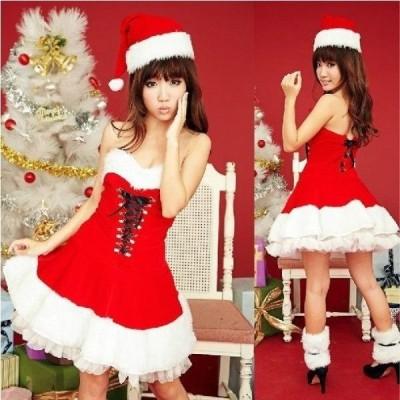 クリスマス コスプレ サンタ 衣装 安い レディース 女性用 仮装 パーティグッズ サンタクロース コスチューム Xmas 長袖 赤 サンタドレス