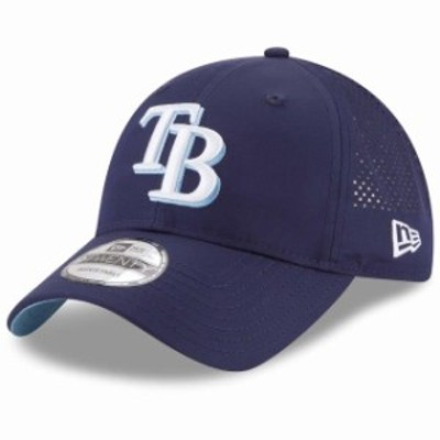 New Era ニュー エラ スポーツ用品  New Era Tampa Bay Rays Navy Perforated Pivot 9TWENTY Adjustable Hat