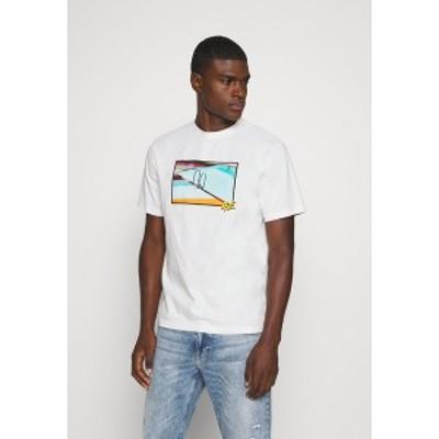 アメリカンイーグル メンズ Tシャツ トップス UNISEX SET IN TEE - Print T-shirt - cool white cool white