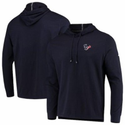 Tommy Bahama トミー バハマ スポーツ用品  Tommy Bahama Houston Texans Navy Bali Coast Hooded Long Sleeve T-Shirt