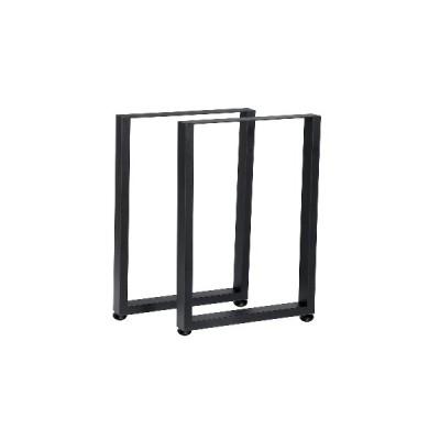 (50cm)2個スクエアコーヒーダイニングテーブル脚ステンレス鋼工業用金属コンピューターラップトップデスクスチールベースフィートホームオフィス家具アク