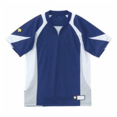 デサント ジュニア ベースボールシャツ(NVWH・サイズ:150) DESCENTE JUNIOR BASEBALL SHIRT プロモデル DS-JDB113-NVWH-150 【返品種別A】