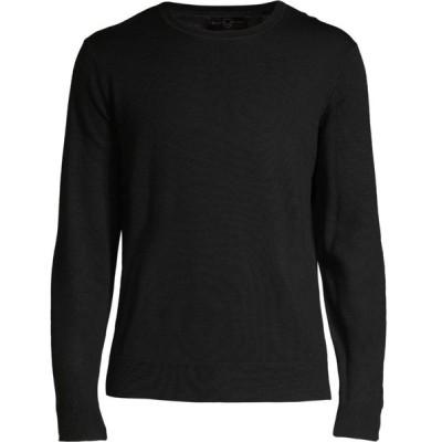 ブラックブラウン Black Brown 1826 メンズ ニット・セーター トップス Crewneck Italian Merino Wool Sweater ブラック