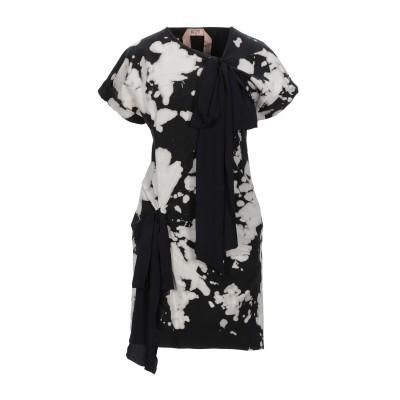 ヌメロ ヴェントゥーノ N°21 ミニワンピース&ドレス ブラック 38 コットン 97% / ポリウレタン 3% / アセテート / シルク ミニ