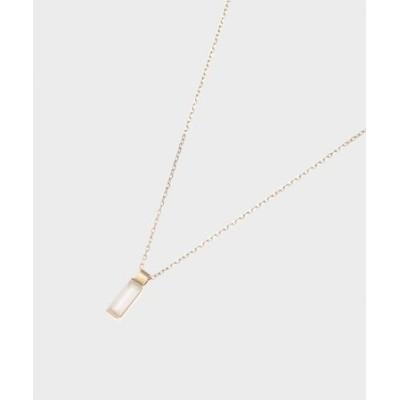 カラーストーン(ムーンストーン)バゲットカット ネックレス