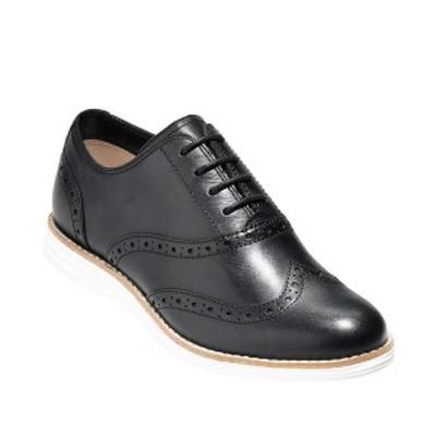 コールハーン レディース サンダル シューズ Women's Original Grand Wing Oxford Flats Black Leather / Optic White