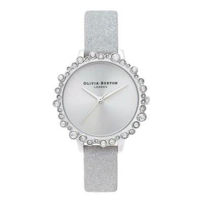 腕時計 オリビアバートン/OLIVIA BURTON 日本公式 アンダーザシー グリッターダイアルスパークル マーカー シルバースパークル ストラップ
