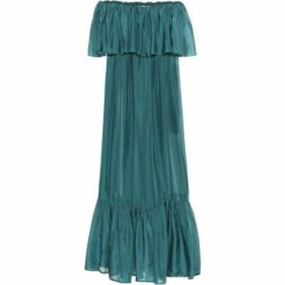 カリタ Kalita レディース ワンピース ティアードドレス ワンピース・ドレス la fontelina tiered silk maxi dress green tourmaline