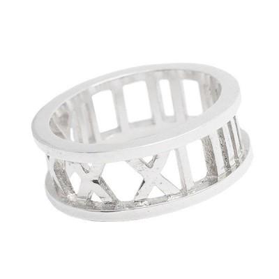 リング 指輪 メンズ シルバー925 ローマ数字 シンプル バイカー