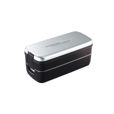 アスベル ランタスFL 弁当箱 2段 小容量 シルバー SS-T640